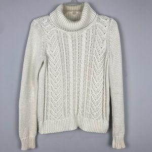 Lands' End Drifter Cable Knit Rollover Neck Sz 2-4